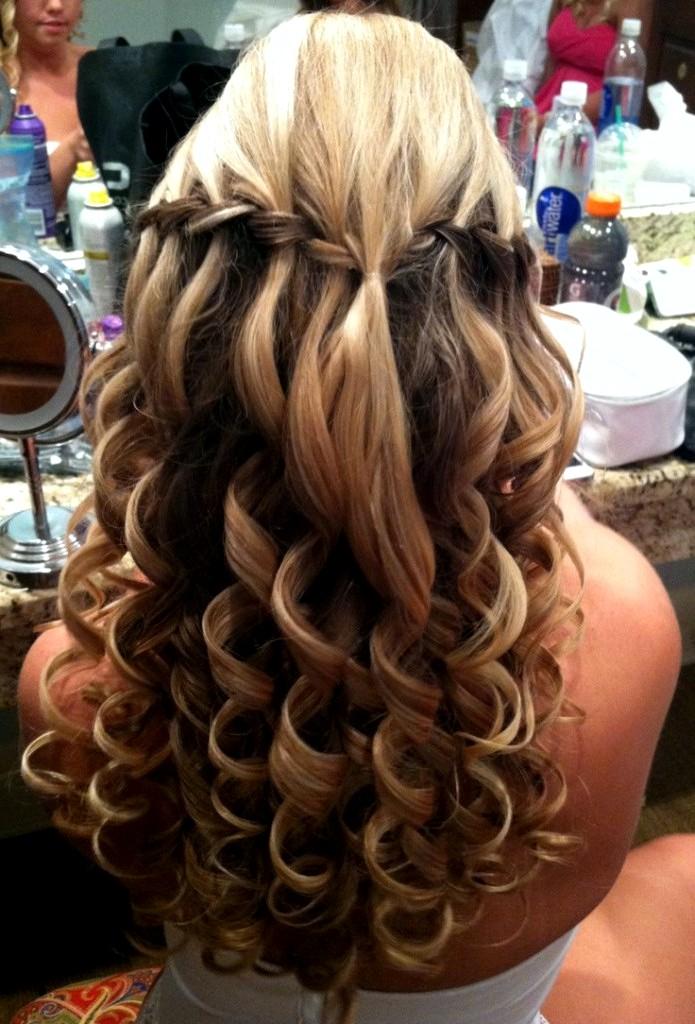 Причёски из длинных волос на выпускной своими руками